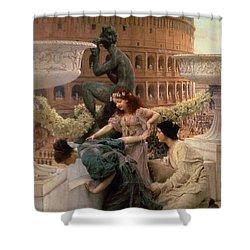 The Coliseum Shower Curtain by Sir Lawrence Alma-Tadema