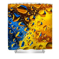The Collision Shower Curtain by Bruce Pritchett