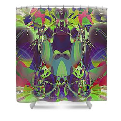 The Color Mask Shower Curtain by Moustafa Al Hatter