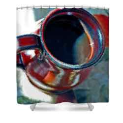 The Color Of Coffee Shower Curtain by Robert Meanor
