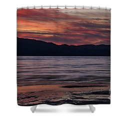 Shower Curtain featuring the photograph The Color Of Dusk by Mitch Shindelbower