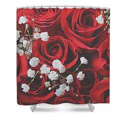 The Color Of Love Shower Curtain by Laurie Search