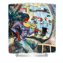 The Color Of Music Shower Curtain by Elisabeta Hermann