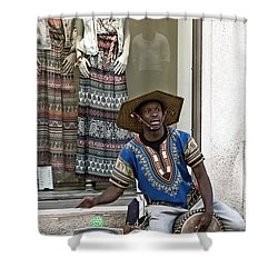 The Color Of Street Music Shower Curtain by Lorraine Devon Wilke