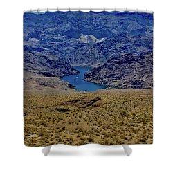 The Colorado River  Shower Curtain