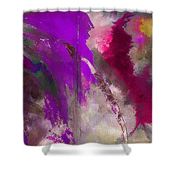 The Colorful Bustier Painting Shower Curtain by Lisa Kaiser