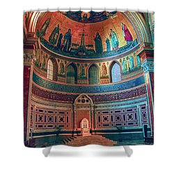 The Colorful Interior Of Roman Catholic Cathedral Shower Curtain