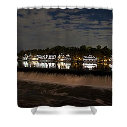 The Colorful Lights Of Boathouse Row Shower Curtain by Bill Cannon