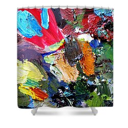 The Colorful Palette Shower Curtain by Elizabeth Robinette Tyndall