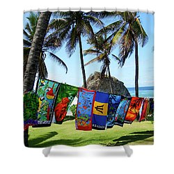 Shower Curtain featuring the photograph The Colors Of Barbados by Kurt Van Wagner