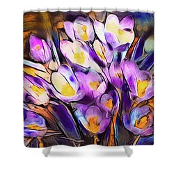 The Colors Of Crocus Shower Curtain