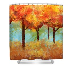 Shower Curtain featuring the painting The Colors Of New Hampshire by Patricia Arroyo