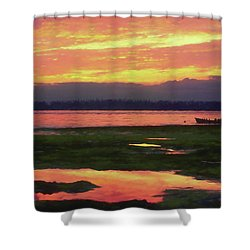 The Colors Of Ship Creek Shower Curtain