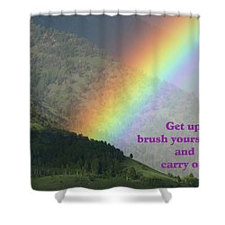 Shower Curtain featuring the photograph The Colors Of The Rainbow Carry On by DeeLon Merritt