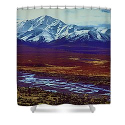 The Colors Of Toklat River Shower Curtain