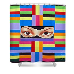The Colour Of Life Shower Curtain by Ragunath Venkatraman