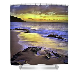 Shower Curtain featuring the photograph The Colour Of Molokai Nights by Tara Turner