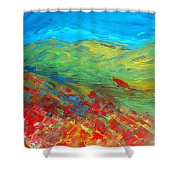 The Colour Of Summer Shower Curtain by Elizabeth Kendall