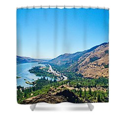 The Columbia River Gorge Shower Curtain