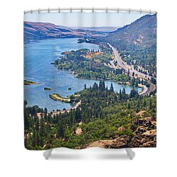 The Columbia River In The Gorge Shower Curtain