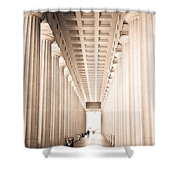 The Columns At Soldier Field Shower Curtain