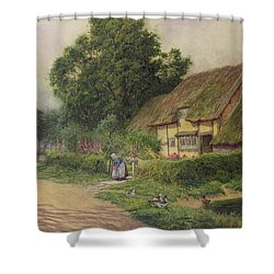 The Coming Of The Haycart  Shower Curtain by Arthur Claude Strachan