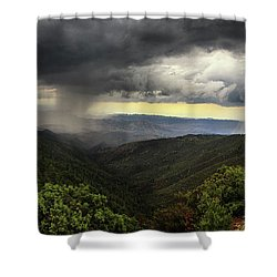 Shower Curtain featuring the photograph The Coming Storm by Rick Furmanek