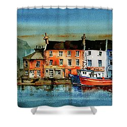 The Commercial Docks, Galway Citie Shower Curtain