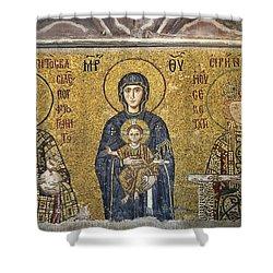 The Comnenus Mosaics In Hagia Sophia Shower Curtain by Ayhan Altun