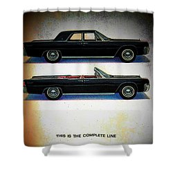 The Complete Line Shower Curtain