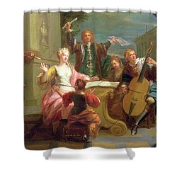 The Concert  Shower Curtain by Etienne Jeaurat