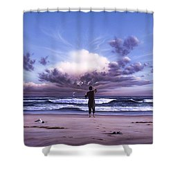 The Conductor Shower Curtain by Jerry LoFaro