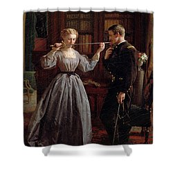 The Consecration Shower Curtain by George Cochran