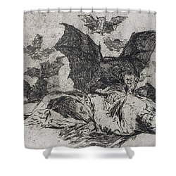 The Consequences Shower Curtain by Goya