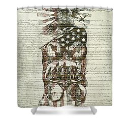 The Constitution Of The United States Of America Shower Curtain by Dan Sproul