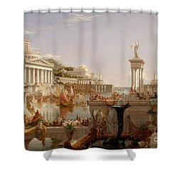 Shower Curtain featuring the painting The Consummation The Course Of The Empire  by Cole Thomas