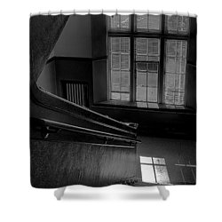 The Conversation Window Shower Curtain by David Patterson