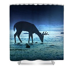 The Cool Of The Night - Square Shower Curtain