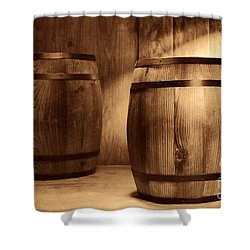 The Coopersmith Shop Shower Curtain by American West Legend By Olivier Le Queinec