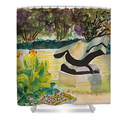 The Corinthian Garden Shower Curtain