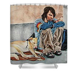 The Corner - La Esquina Shower Curtain