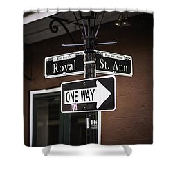 The Corner Of Royal And St. Ann, New Orleans, Louisiana Shower Curtain