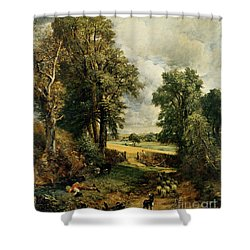 The Cornfield Shower Curtain by John Constable