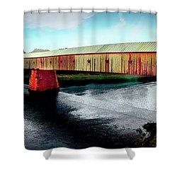 The Cornish-windsor Covered Bridge  Shower Curtain
