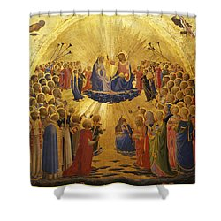 The Coronation Of The Virgin Shower Curtain