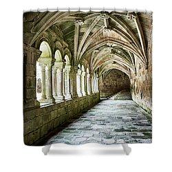 Shower Curtain featuring the photograph The Corridors Of The Monastery by Eduardo Jose Accorinti
