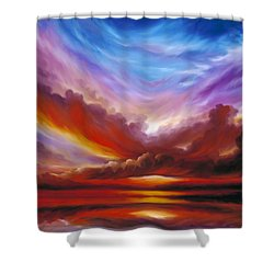 The Cosmic Storm II Shower Curtain