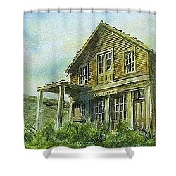The Cosmopolitan Belmont Ghost Town Nevada Shower Curtain by Kevin Heaney
