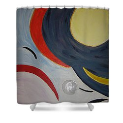 The Cosmos Shower Curtain by Barbara Yearty