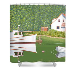 The Cottsge At Blackberry Point Shower Curtain